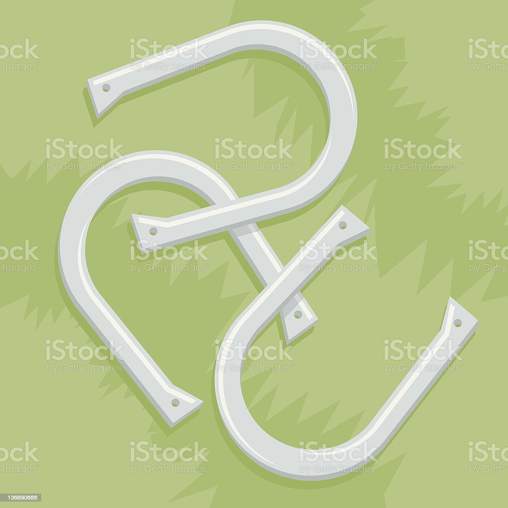 Horse Shoes royalty-free stock vector art