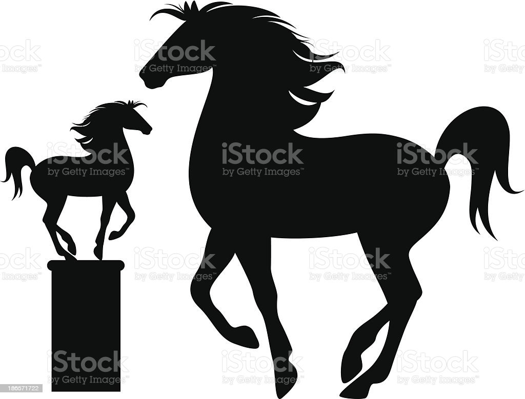 horse silhouette royalty-free horse silhouette stock vector art & more images of abstract