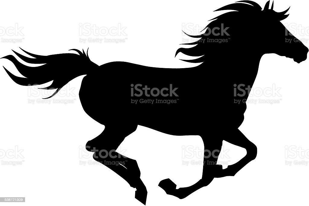 Horse silhouette vector art illustration