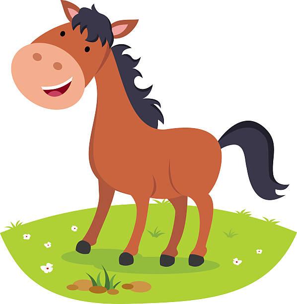 Best Horse Laughing Cartoon Animal Illustrations, Royalty ...
