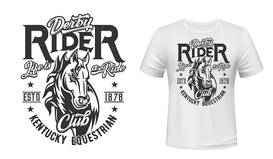 Horse stallion t-shirt print, equestrian sport