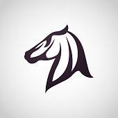 Horse symbol vector icon design