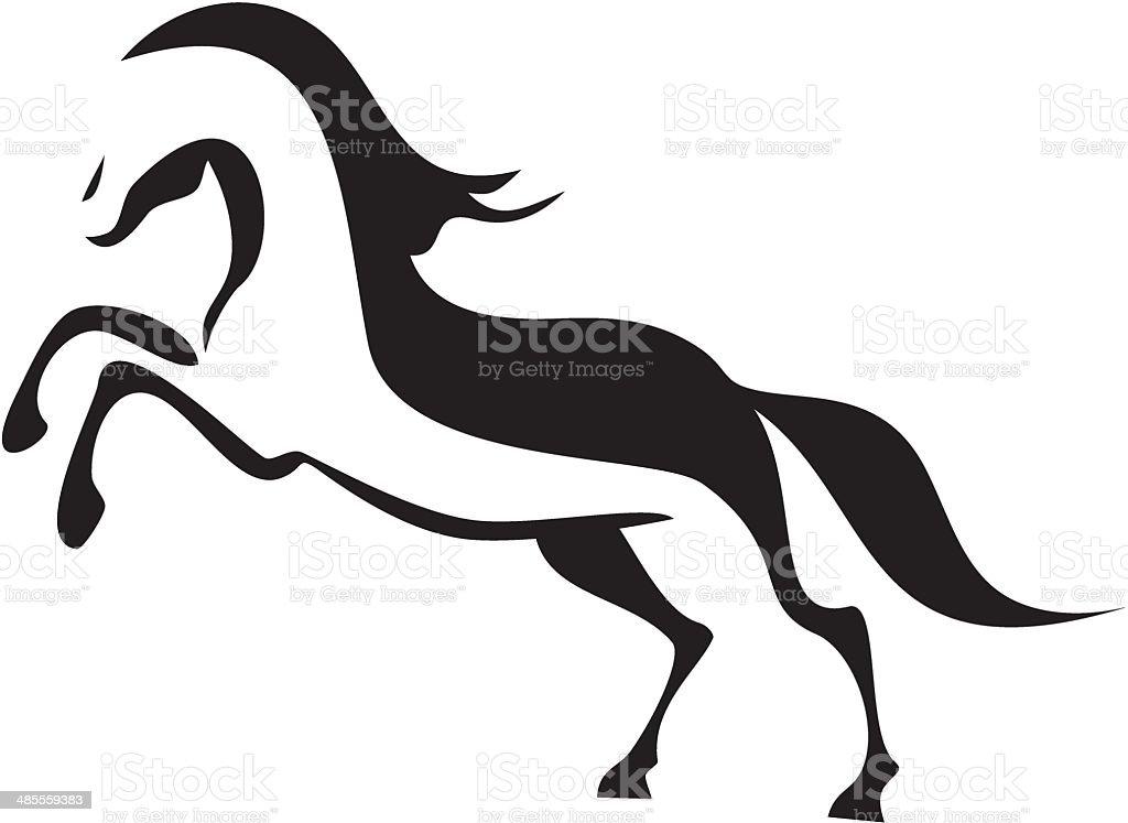 Horse symbol vector art illustration