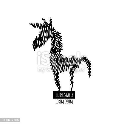 Horse Symbol Stock Vector Art More Images Of Animal 926017360 Istock