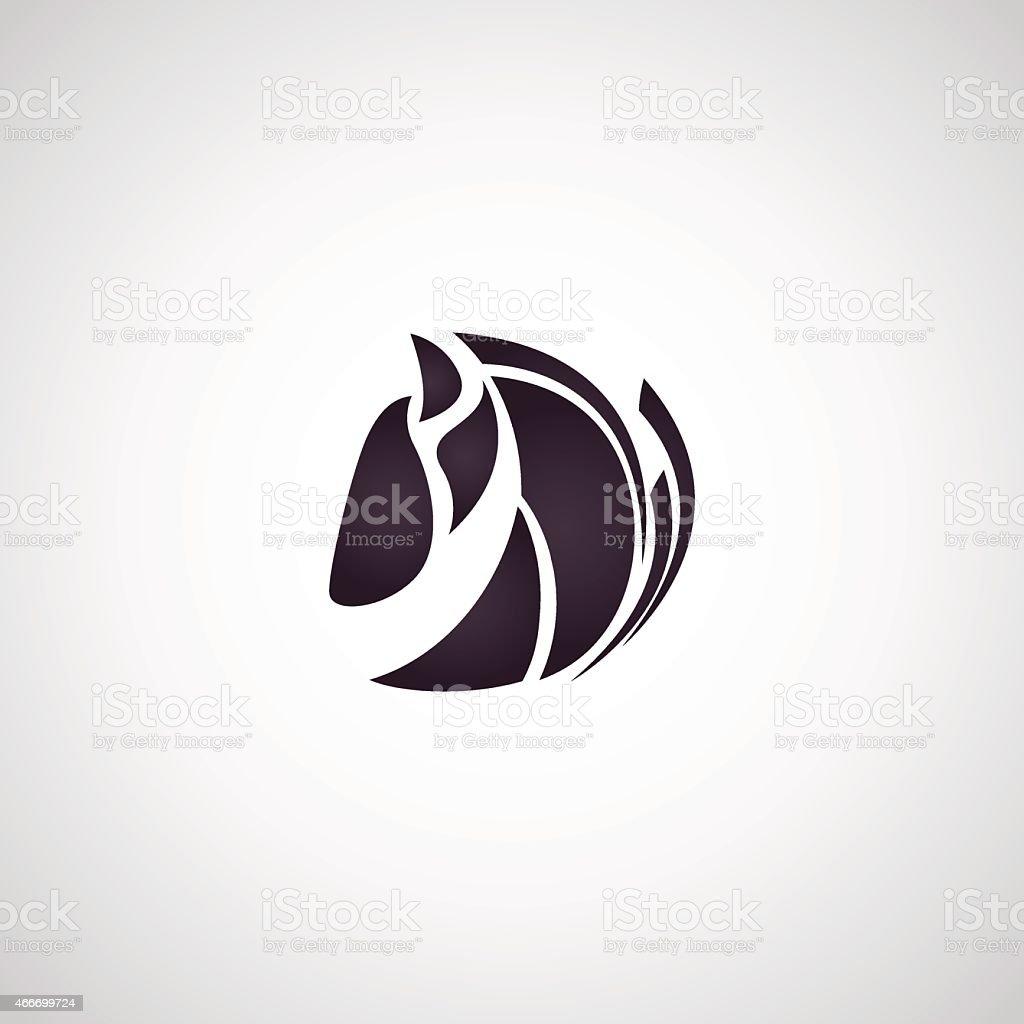 Horse symbol vector vector art illustration