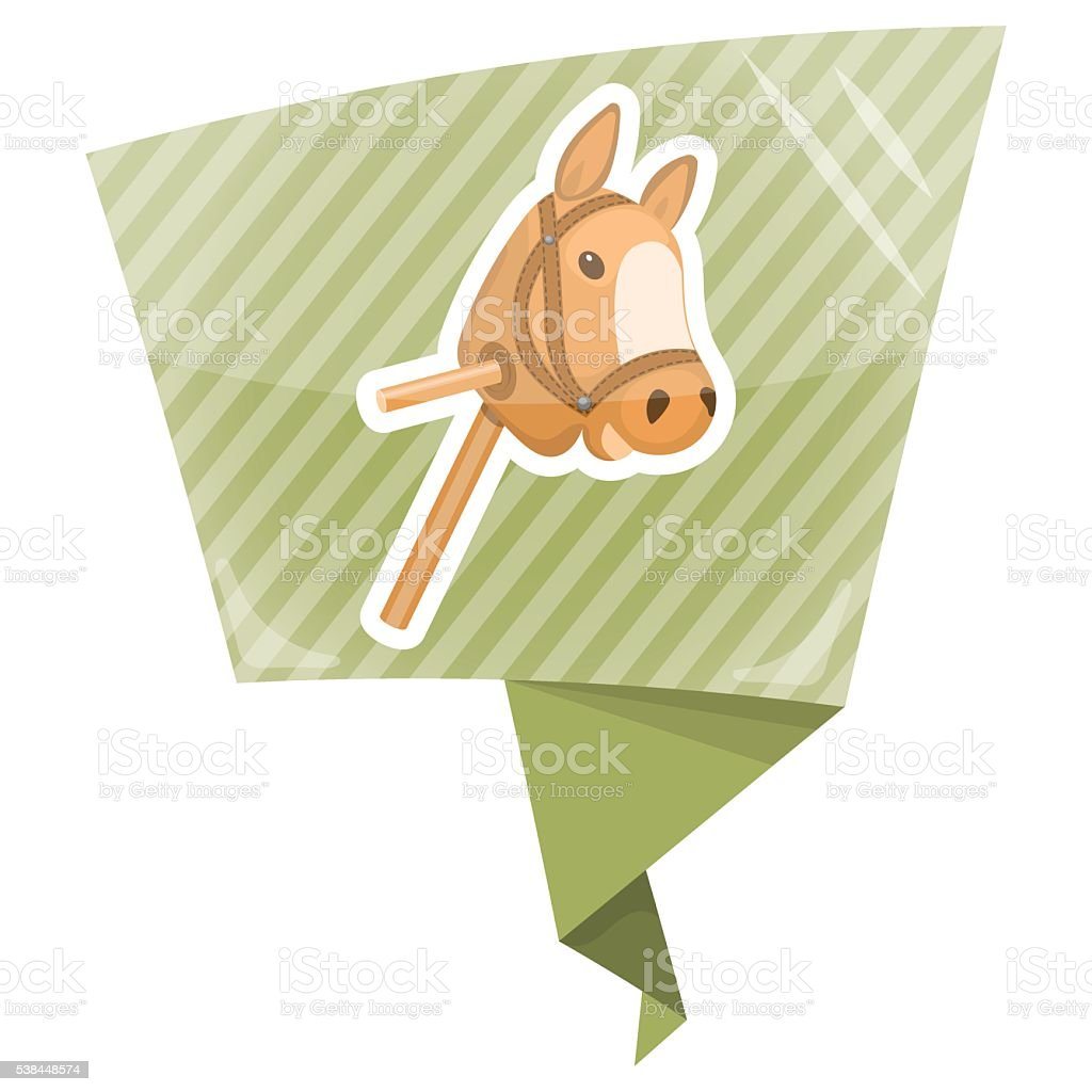 Horse toy colorful icon vector art illustration