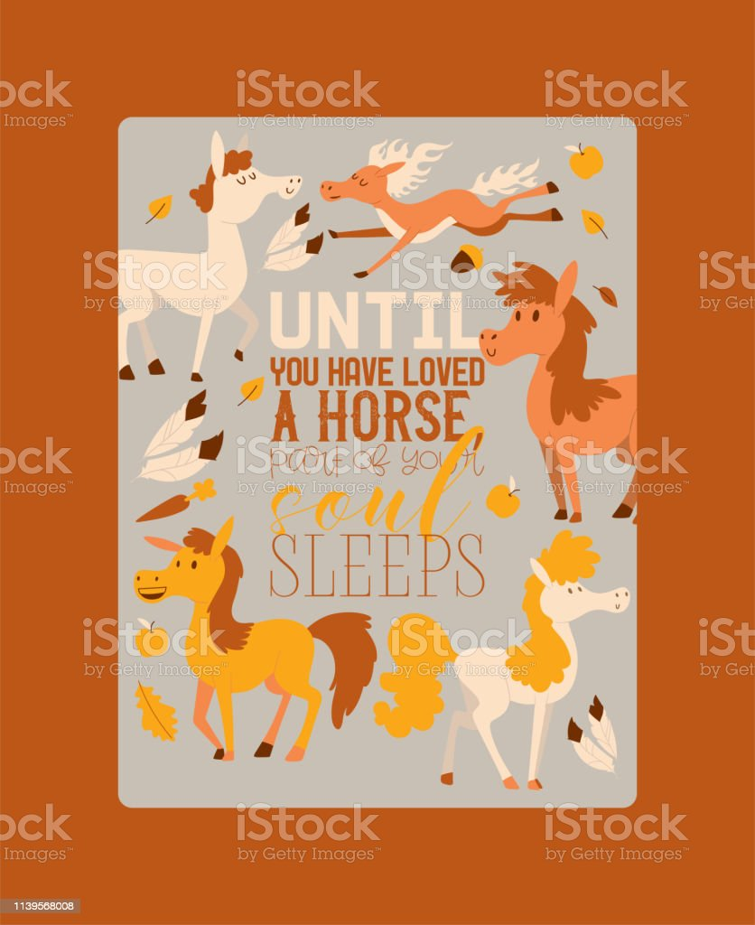 Horse vector animal of horse-breeding or equestrian and horsey equine...