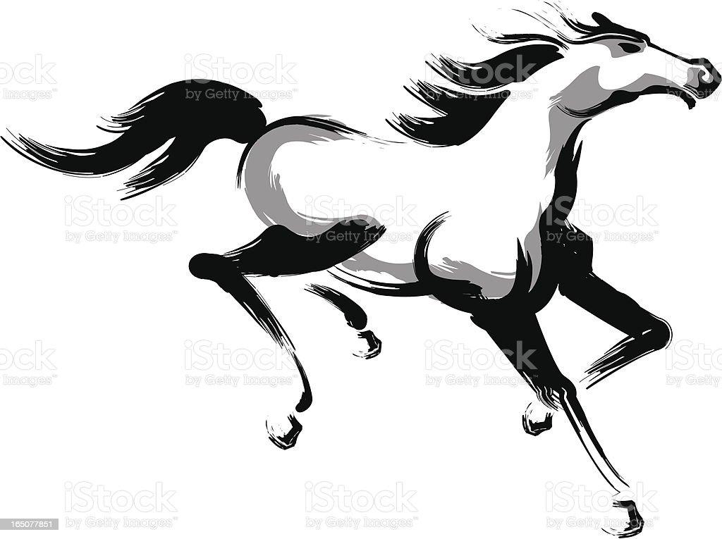 horse (running) royalty-free stock vector art
