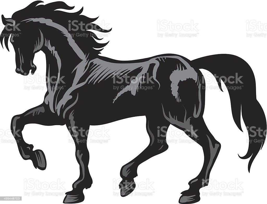 Horse vector art illustration