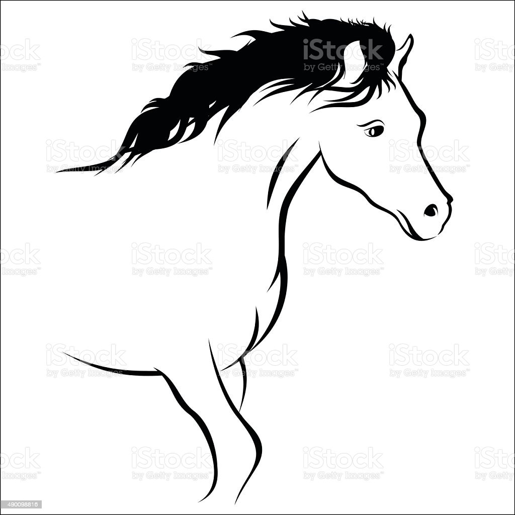 Horse royalty free horse stockvectorkunst en meer beelden van 2015