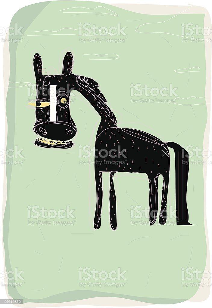 horse - Royalty-free Bizar vectorkunst