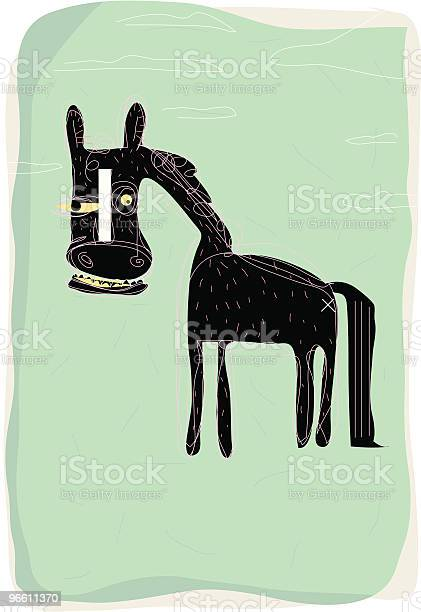 Horse-vektorgrafik och fler bilder på Bisarr