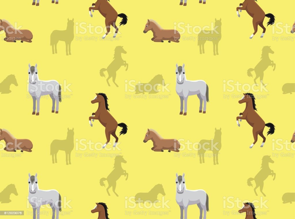 Horse Wallpaper 2 Stock Illustration Download Image Now Istock