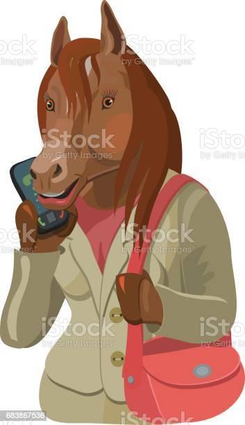 Horse woman talking on mobile phone vector id683867536?b=1&k=6&m=683867536&s=612x612&h=fwmnw77nbxwwezgh7jebe9ucrgfneisxhfclxezaldu=