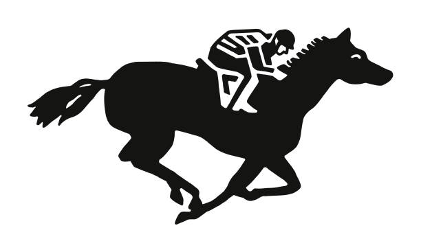 승마 rider - horse racing stock illustrations