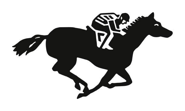 horseback binici - horse racing stock illustrations