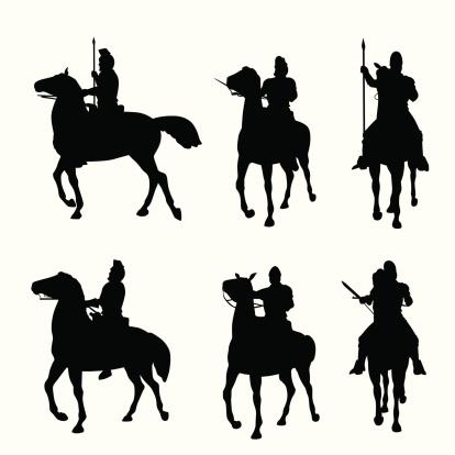 Horseback Vector Silhouette