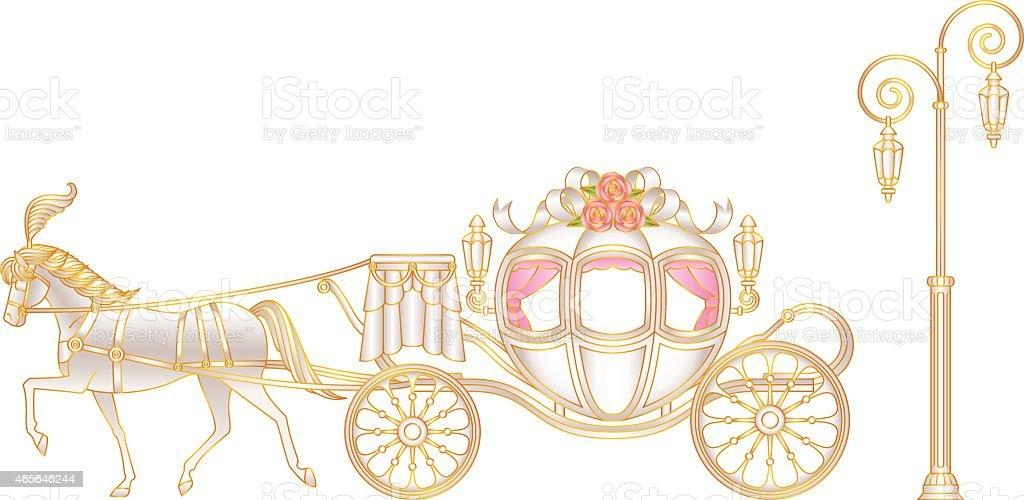 vectores de carruaje y illustraciones libre de derechos istock princess carriage clipart cinderella carriage clip art free