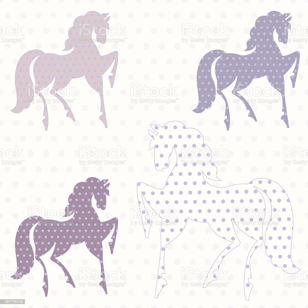Horses seamless pattern royalty-free stock vector art