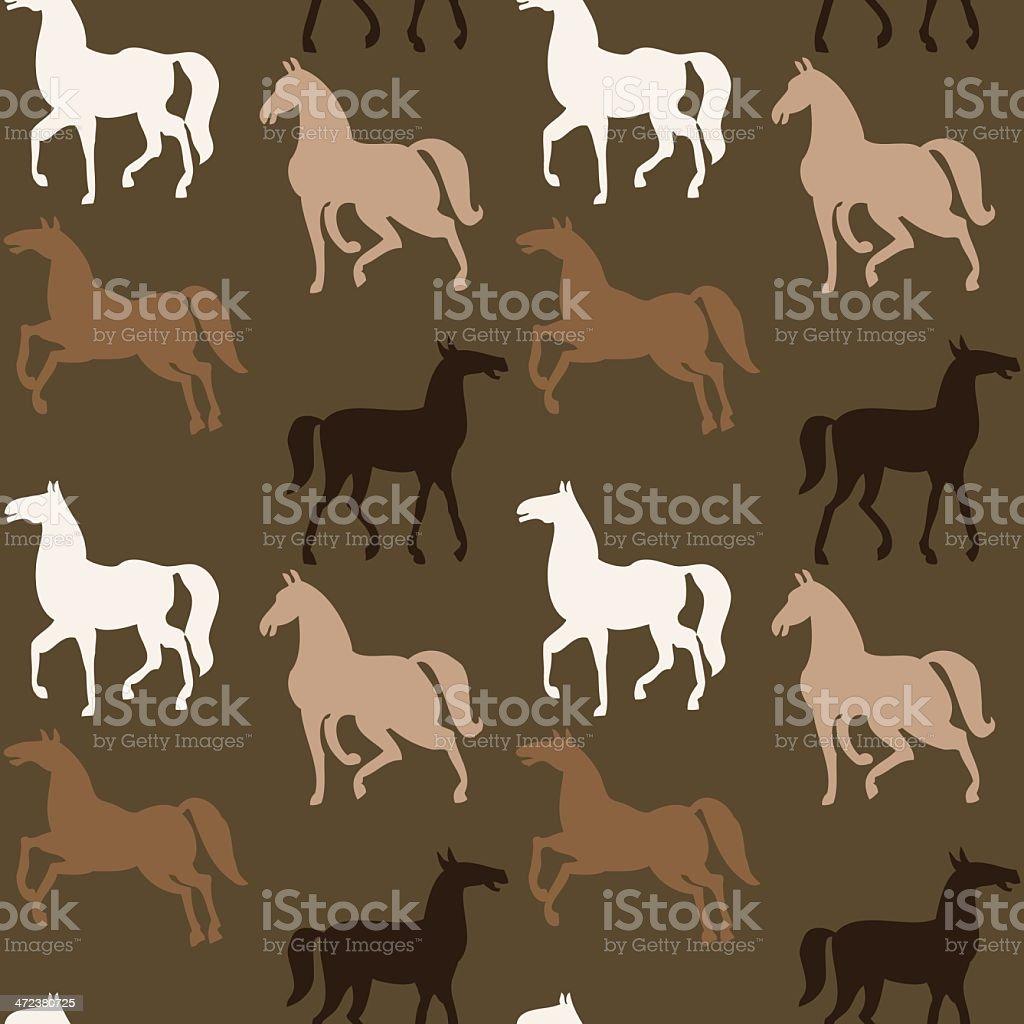 Horses Wallpaper Stock Illustration Download Image Now Istock