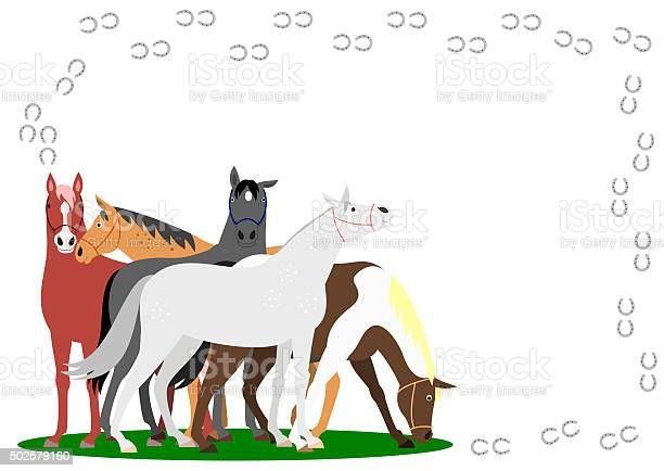 Horses with horseshoe frame on white background vector id502579160?b=1&k=6&m=502579160&s=612x612&h=ajb45ynwsgjqgnvrnynarei7aa2qb2e5foty pdei8s=