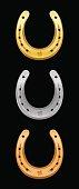 Horseshoe Gold Silver Bronze