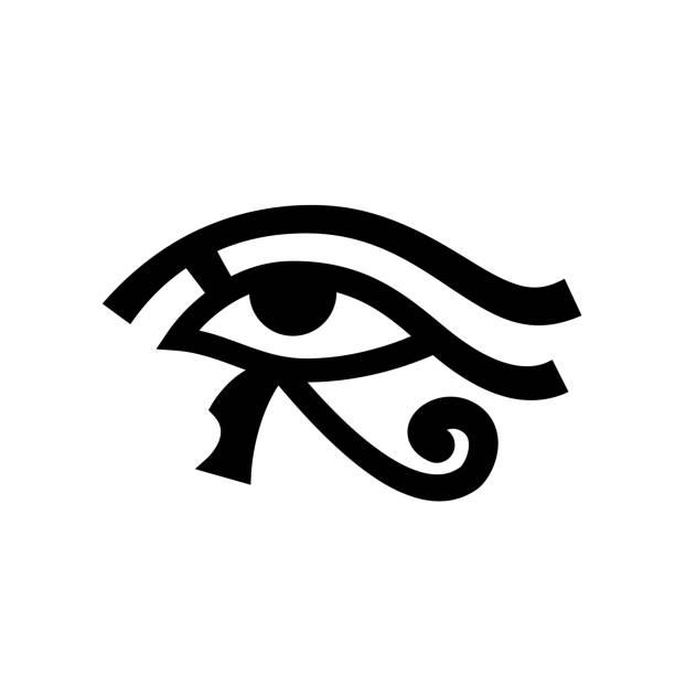 Horus eye (Wadjet) vector art illustration