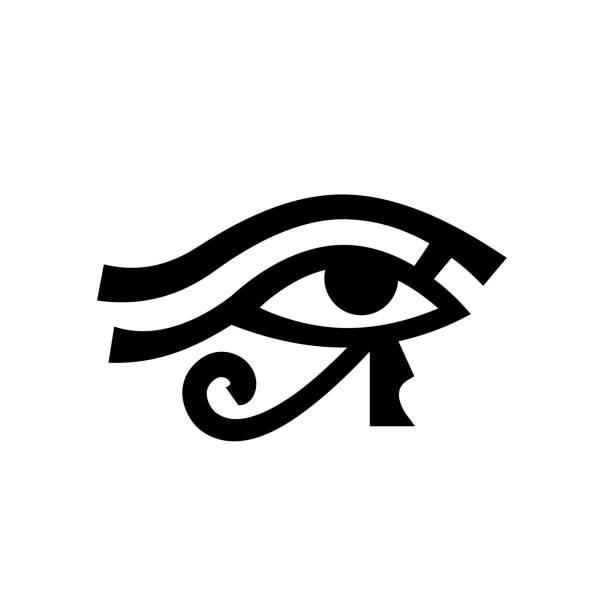 horus eye (wadjet) - третье око stock illustrations