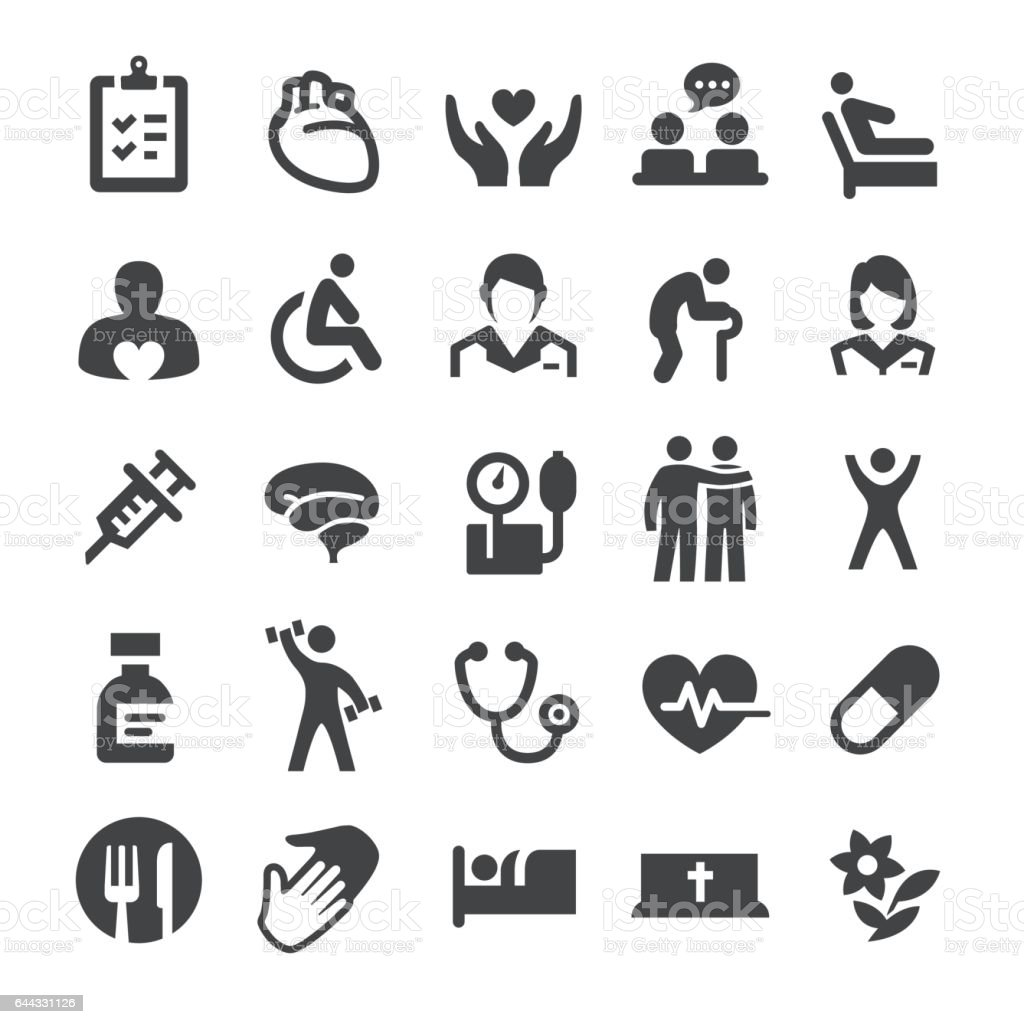 Hospice Care and Nursing Home Icons - Smart Series vector art illustration
