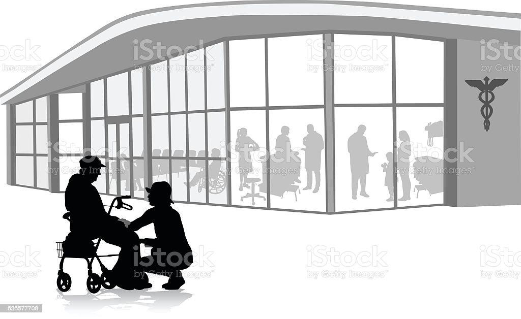 Hospice Caretaker - ilustración de arte vectorial