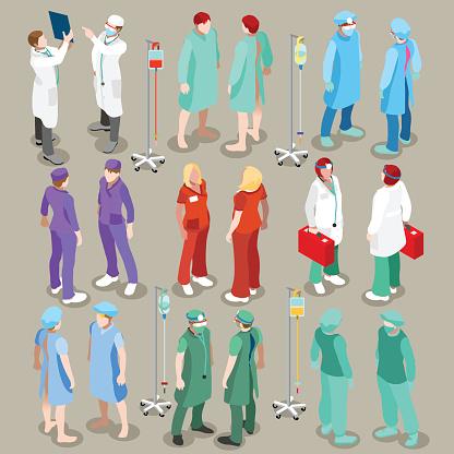 Hospital 21 People Isometric向量圖形及更多互聯網圖片