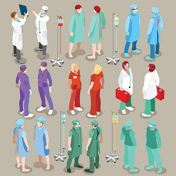 hospital 21 people isometric - surgeon 幅插畫檔、美工圖案、卡通及圖標