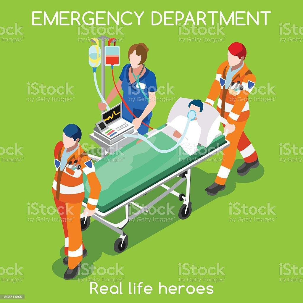 Hospital 22 People Isometric vector art illustration