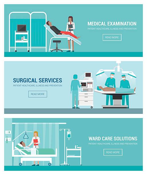 bildbanksillustrationer, clip art samt tecknat material och ikoner med hospital and healthcare - sjukhusavdelning