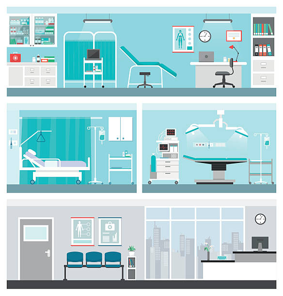 hospital and healthcare - medical equipment stock illustrations, clip art, cartoons, & icons