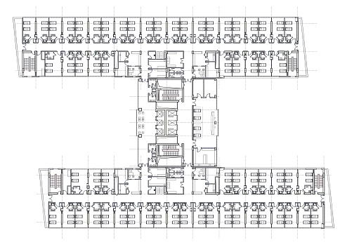 Hospital Architectural Plan Drawing