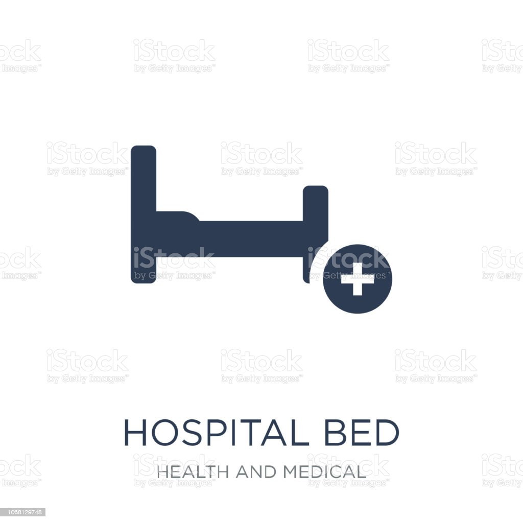 Hospital bed icon. Trendy flat vector Hospital bed icon on white background from Health and Medical collection vector art illustration