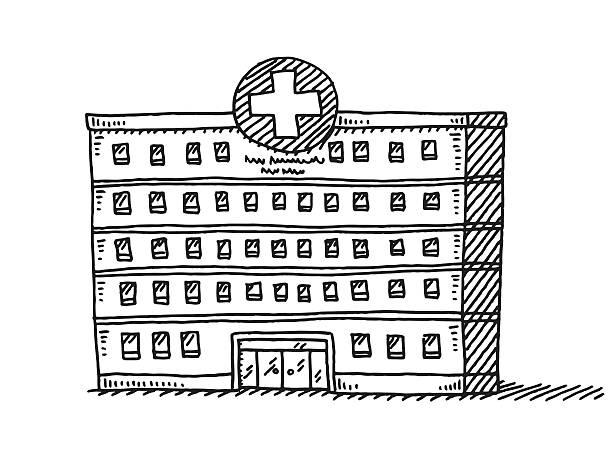 Best Hospital Building Illustrations, Royalty-Free Vector