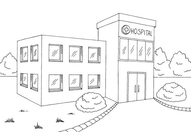 Best Medical Clinic Building Illustrations, Royalty-Free