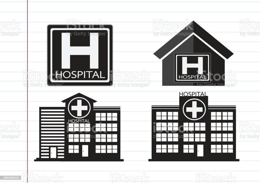 Hospital building icon design in illustration royalty-free hospital building icon design in illustration stock vector art & more images of architecture