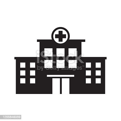 istock hospital building icon vector template 1255846059