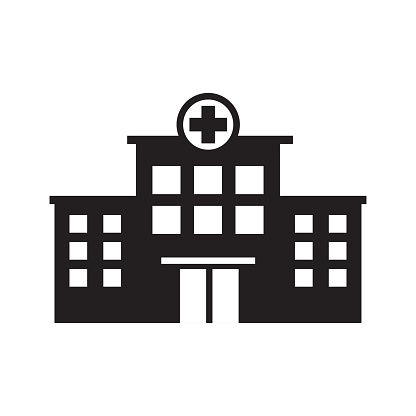 hospital building icon vector template