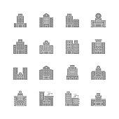 Hospital building icons,vector illustration. EPS 10.