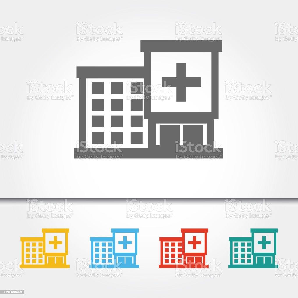 Hospital Building Single Icon Vector Illustration vector art illustration