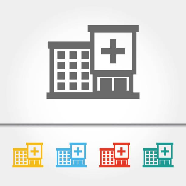 Gebäude des Krankenhauses einzelnes Symbol Vektor-Illustration – Vektorgrafik