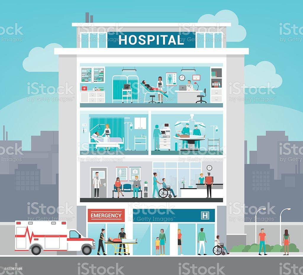 royalty free hospital clip art vector images illustrations istock rh istockphoto com hospital clip art free hospital clip art black and white