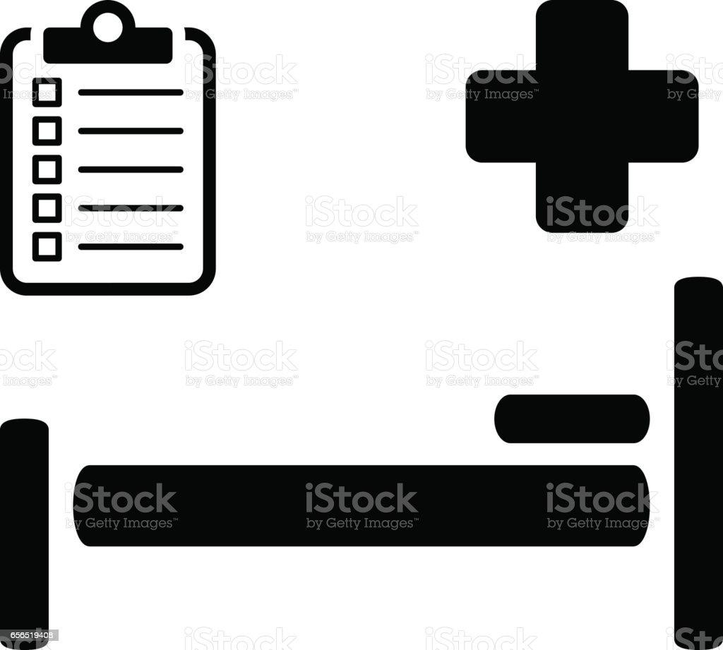 Hospital Care Icon. Flat Design vector art illustration