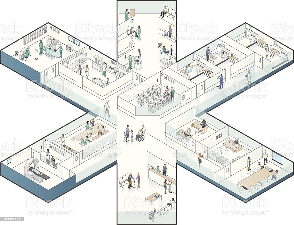 Hospital Cutaway Illustration