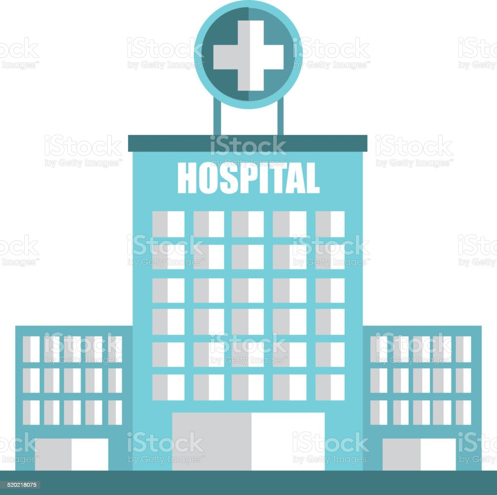 hospital design vector art illustration