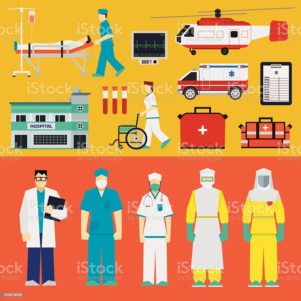 Hospital - Doctors vector art illustration